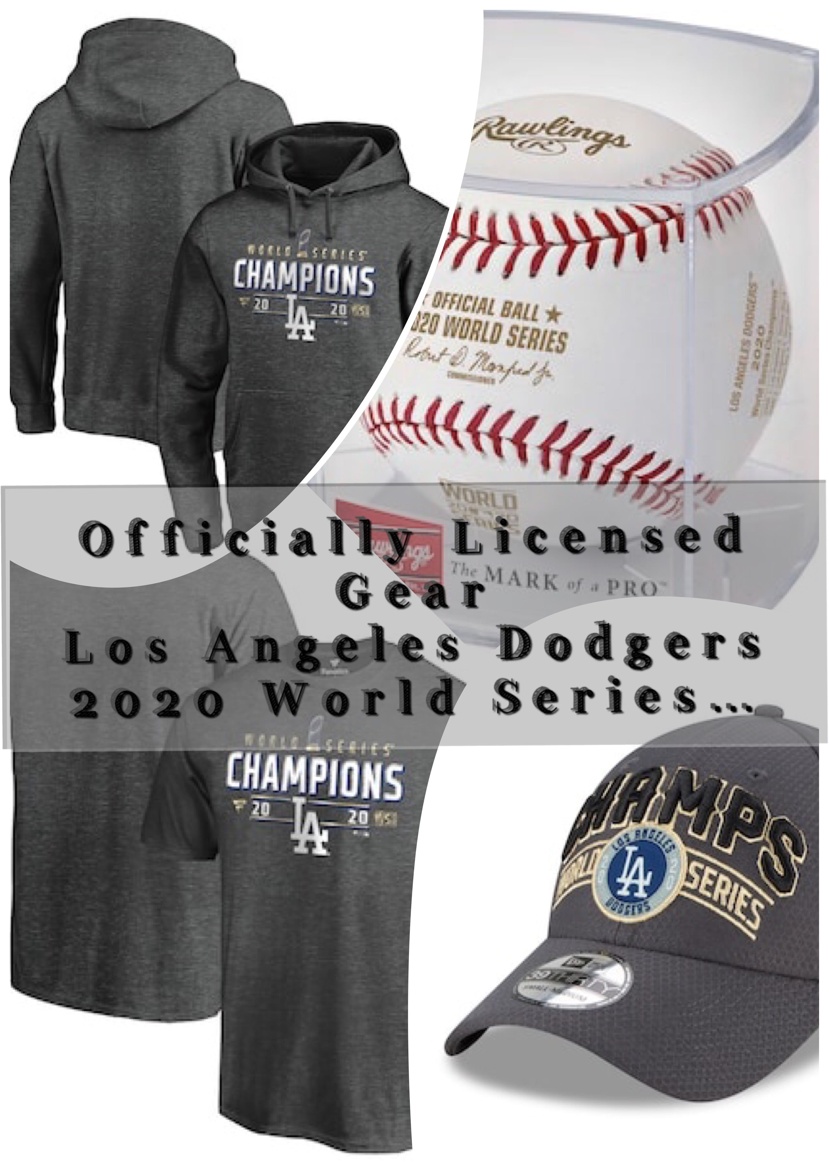 2020 World Series Champions Los Angeles Dodgers Gears